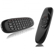 C120 2.4GHz Air Fly Mouse Wireless Mini Keyboard with Mouse Game Handle Android Remote Control for Smart TV Android TV Box PC HTPC IPTV Media Player(Black Anewkodi)