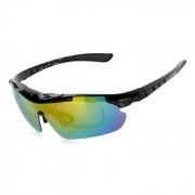 CTSmart PC gafas de sol polarizadas w / Lentes de repuesto Set - Negro