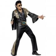 Zwart met goud Elvis Presley pak