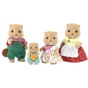 "Epoch Sylvanian Sylvanian Families Family Doll ""Family of Beaver Fs-21"""