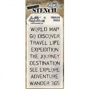 Stampers Anonymous Tim Holtz Layered Travelers Stencil 4.125 x 8.5