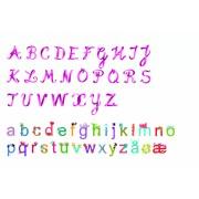 Abțibilduri de perete litere fete Djeco