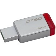 USB DRIVE, 32GB, KINGSTON Data Traveler 50, USB3.0, Metal/Red (DT50/32GB)