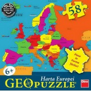 PUZZLE GEOGRAFIC - HARTA EUROPEI (58 PIESE) (712027)