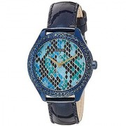 Guess Quartz Blue Round Women Watch W0626L3