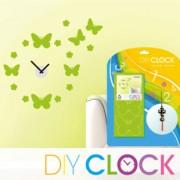 """DIY Clock - Orologio """"Fai da te"""" Butterfly - Farfalle e Fiori VERDE"""
