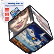 Revolving Photo Cube - Magically Displays 6 Photos