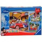 Puzzle clubul mickey mouse 3x49 piese
