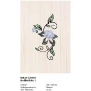Domino D-Rodillo fiolet 1 25x36