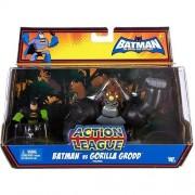 Mattel Dc Batman Brave and The Bold Action League Mini Figure 2Pack Batman & Gorilla Grodd