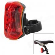 FL-501 bicicletas 3W 2-Mode 3-LED roja luz de la cola de la lampara - Rojo + Negro (2 x AAA)