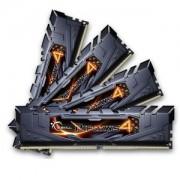 Memorie G.Skill Ripjaws 4 Black 32GB (4x8GB) DDR4, 2400MHz, PC4-19200, CL15, Quad Channel Kit, F4-2400C15Q-32GRK