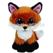 New TY Beanie Boos Cute Slick Fox Plush Toys 6 15cm Ty Plush Animals Big Eyes Eyed Stuffed Animal Soft Toys for Kids Gif
