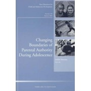 Changing Boundaries of Parental Authority During Adolescence by CAD (Child & Adolescent Development)