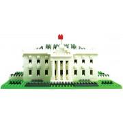 The White House, een uitdagende bouwset van nanoblocks, vergelijkbaar met mini-lego*