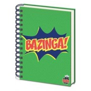 The Big Bang Theory Cahier À Spirale A5 Green Bazinga