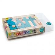 Erzi 36 x 21 x 6,2 centimetri tedeschi giocattoli di legno Building Blocks (Multi-Color)
