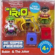 Fisher-Price TRIO DC Super Friends 2-Pack Figure Set - Robin & the Joker Building Set