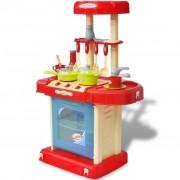 vidaXL Детска кухня за игра със светлинни и звукови ефекти