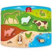 Hape Farm Animal Puzzle & Play Puzzle/Game, Multicolor, 5'' x 2''