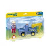 Playmobil 1.2.3 - Camión con grúa (6791)