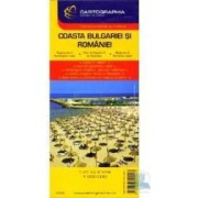 Coasta Bulgariei si Romaniei - Harta turistica si rutiera