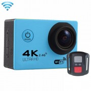 F60R 2.0 inch Screen 4K 170 Degrees Wide Angle WiFi Sport Action Camera Camcorder with Waterproof Housing Case & Remote Controller Support 64GB Micro SD Card(Blue)