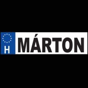 Márton - Név rendszámtábla
