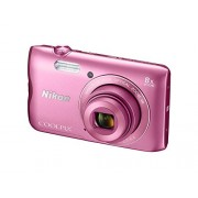 Nikon Coolpix A300 20.1MP Point and Shoot Camera with 4x Optical Zoom (Pink) with 16GB Memory Card and Camera Case