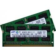 Samsung ram memory 8GB kit, (2 x 4GB), DDR3 PC3 10600, 1333Mhz, 204 PIN, SODIMM for laptops (p.n. M471B5273DH0-CH9 x 2)
