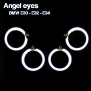 Pack 4 Anneaux angel eyes CCFL BMW E32 Blanc xenon 6000K