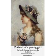 Portrait of a young girl de Emile Eisman Semenowsky (kit goblen)