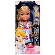 Disney Princess Toddler Cinderella (35 cm tall doll) and Jewellery Set