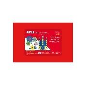 Apli - Moosgumi, 400x600 mm - Eva Sheets - Piros