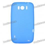 Soft Case PVC Retour de protection pour HTC Sensation XL X315e G21 - Bleu