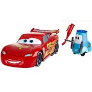 Cars 2 Gas Up And Go Guido And Lightning Mcqueen Car Playset