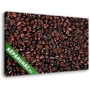 Pörkölt kávébabszemek (40x25 cm, Vászonkép )