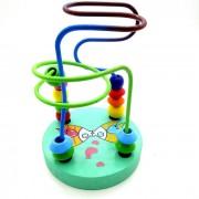 Fantasia Calcular redonda de madera del grano del juguete - verde + Multicolor
