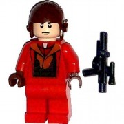 LEGO Star Wars Minifig Naboo Fighter Pilot Red Jumpsuit