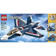Lego Creator (608pcs) 3 In 1 Blue Power Jet Toy For Kids Figures Building Block Toys