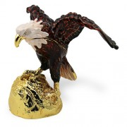 "Objet DArt Release #273 ""E Pluribus Unum"" USA Bald Eagle Handmade Jeweled Metal & Enamel Trinket Box"