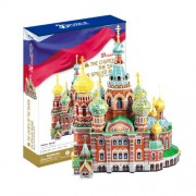 "Rompecabezas 3D de la CubicFun ""La iglesia del Salvador sobre la sangre derramada - San Petersburgo"""