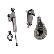 FXCNC Racing Motorcycle Steering Damper Mounting with Bracket Kit For Kawasaki ZX636 ZX6R 2005 2006 Gray