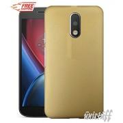 Unistuff™ Matte Finish Hard Shell Ultra Thin Bumper Back Case Cover for Motorola Moto G 4th Gen / Moto G4 / Moto G Plus, 4th Gen / Moto G4 Plus (Golden)