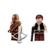Han Solo & Chewbacca (Death Star Version) - LEGO Star Wars Minifigures