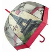 Deštník vystřelovací Paříž červený 9160-5 9160-5