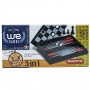 WE Games 3-in-1 Combination Game Set -Small Travel Size