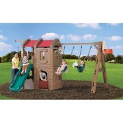 "Step2 88.5"""" x 147"""" Adventure Lodge Play Center Swing Set 801300"
