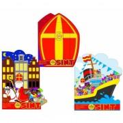 Kleur- en spelletjesboek Sinterklaas huizen