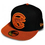 Boné New Era Chicago Cubs Black & Orange - 7 1/8 - P